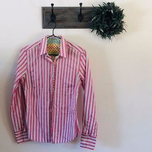 Robert Graham Pink Stripe Button Down 2